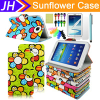 """For Samsung Galaxy Tab3 7"""" Tablet P3200 PU Leather Wallet Case Cover+ Guard+ Pen"""