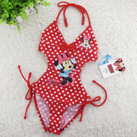 4-11 Years Children Baby Swimsuit/Kids Red Minnie Mouse Swimwear/ Girls Swimming Clothes/Free Shipping Retail 1 pc