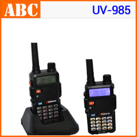 New Walkie Talkie 8W 128CH UV-985 UHF + VHF DTMF Offset Dual Band /standby/display Black A1002A Fshow