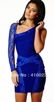 New arrival sexy backless evening Dresses HL bandage dress night club wear prom party lace dress ladies elastic skirt