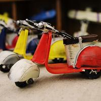 Vintage home decor Mini sheep Iron motorcycle model chiristmas gift for girl