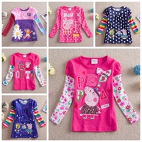 Pepa pig,Nova Brand,pepea pig,new 2014,children t shirts,kids girl clothes,baby wear,bebe,baby girl clothes