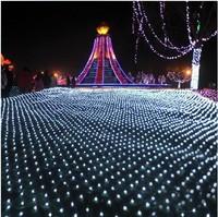 110-240V US EU UK Plug  3 x 2m Led net lights Web light for Christmas/Xmas   decoration outdoor  blue warm white purple RGB