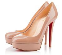 beige heels 14CM waterproof Taiwan fine with occupational round red Bottom Heels