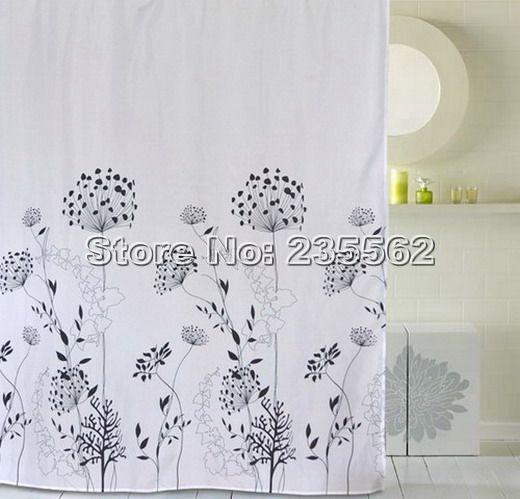 Cortinas De Baño Impermeables:de león baño tela cortina de ducha impermeable 180 X 180 cm Cs106 de
