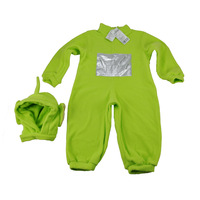 Free Shipping Teletubbies Coverall Age 2-4 Years Children One-Piece Cosplay Performing Clothing With Hat Yellow/Purple/Green
