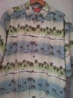 "america brand size men 100% silk floral shirt print xxl chest 138cm 54"" free shipping"