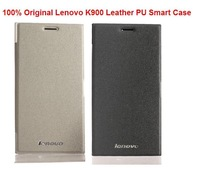 Free Shipping Original Lenovo K900 flip smart flip Case Lenovo K900 Case with Wake Up Fuction free Gift Screen Protector
