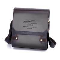 Fashionable Men's Messenger Bag PU Leather Polo Bag Designer Brand One Shoulder Bags Briefcase for Men Vertical and Horizontal
