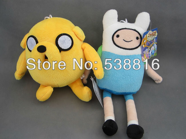 Retail Promotional 2pcs/Lot Finn & Jake 11 inch NEW Adventure Time Plush Doll PLUMP JAKE Plush Toy Free Shipping(China (Mainland))