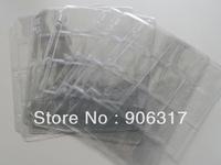 12  openings per page 5cm*5cm ,  20pcs/lot Vinyl  Paper Card Plastic Pages