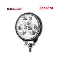 2pcs/lot 3'' 9w LED  work light pencel flood wide flood beam headlight for car moto bicycle electrombile side light for truck