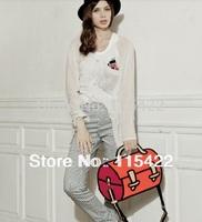 2014 hot sale women 3d cartoon handbag men 2d 3d gismo shoulder bag fashion comic bag free shipping