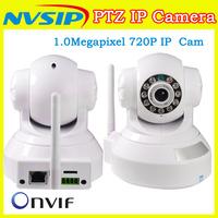 HOT !!  HD 720P 1.0 Megapixel IP Camera PTZ CMOS  Sensor ONVIF H.264 Wifi  Wireless PTZ Ip Camera support TF Card