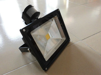 Freeshipping PIR led floodlight  AC85-265V 30w 50w  led flood light lighting led outdoor lamp lights bulbs ce high power garden