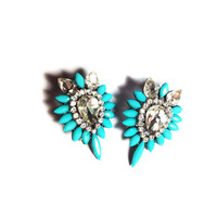 2014  Fashion luxury crystal shourouk design party stud Earrings for women jewelry wholesale Christmas Gift