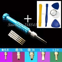 High Hardness 5 in 1 for iPhone Samsung Phone DIY Repair Tools Pentalobe 0.8 Precision S2 Screw driver Bit Multi Screwdriver Kit