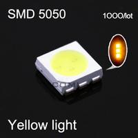 Free shipping yellow light led smd 5050 leds lamp led emitting diode for led light string par light  1000pieces/lot#