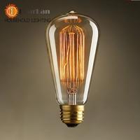 Wholesale Price Fashion Incandescent Vintage Light Bulb,Edison Bulb Fixture,E27/220V/40W 60*140(mm),Antique 220v Light Bulb