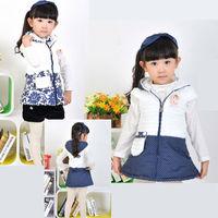 New 2013 Fashion Brand Baby Girls Vest Winter children princess fur vest Child Hooded Cute Doll Decor Zipper Vest Winter Autumn