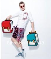 Free shipping cartoon 3d backpack fashion male famale bags 3D comic bag shouder cartoon comic bag,Drop shipping
