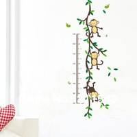 Kids Growth Chart Height Measure For home sticker for children's room wall decals,funny bedroom Decoration K022 Free shipping