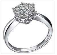 free  shipping  1 carat 18 k white gold  that South African dimonds female ring dimond jewelry