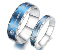 New Fashion Blue Forever Love a Couple of Titanium Steel Rings Popular Jewelry GJ270