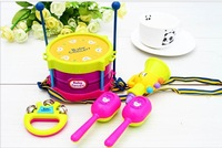 Baby boy/ girl Kids Children Toy toys Gift Set 5pcs Roll toy Drum Musical Instruments Band Kit free shipping