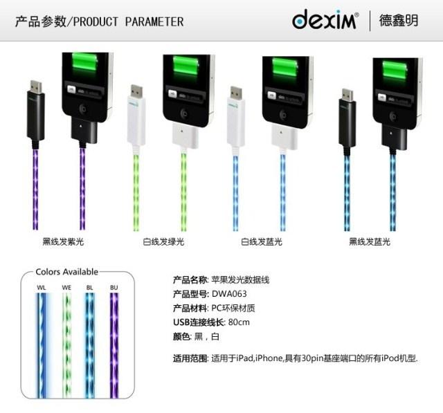 Кабель для передачи данных Dexim & iphone4s/ipad2 EL apple защитная плёнка для ipad iphone 4 sticker iphone4s adidas i4 iphone4s