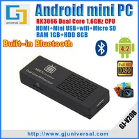 Original Newest stable MK808B with bluetooth mini pc RK3066 cortex A9 dual core android TV stick MK808 Freeshipping