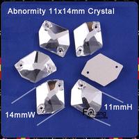High Quality Wholesale Crystal clear sew on rhinestone Abnormity flatback 11X14mm 13X16mm 17X21mm