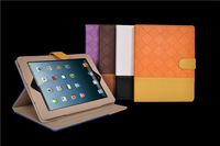 two colors Lattice cases covers for iPad 2 and iPad 3 ipad 4 Wholesales top quanlity and material PU Leathers