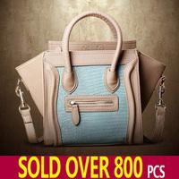 Handbag Women 2013 Fashion Vintage Bag Black And White Clutch Smiley Handbag One Shoulder Bag Messenger City Tote Bag Designer *