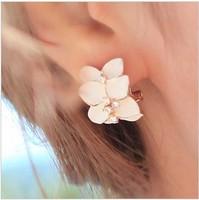 Sunshine jewelry store fashion elegant crystal flower earring for women E156 ( $10 free shipping )