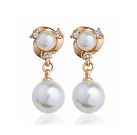 80537AC -21,free shipping fashion freshwater clap on pearl dangle earring ,cheap earrings pearl
