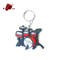 Drum Kit Key Chain Keyring Music Pendant Acoustic PVC Wholesale New Hot Sales
