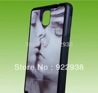 Wholesale 2d sublimation case for Sumsung  Note3,TPU with aluminium metal plate  8pcs/lot