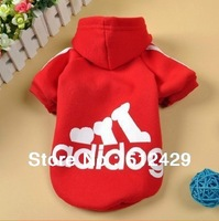 Free shipping + Small pet Puppy Dog Clothes Fleece Hoodie Sweater Sport Jersey Poodle Papillon
