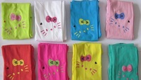 Free Shipping 2014 New 3pcs/lot Baby Girls Pantyhose Hello Kitty Velvet Tights /Leggings /  Stocking Kids Pants Outfits