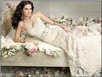 Bra Bridal Dress Lace Embroidery Wedding Dresses Sexy White/Ivory Lace Mermaid Wedding Dress Custom all Size Wedding Gown