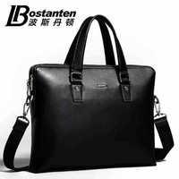 BOSTANTEN fashion new design male cowhide shoulder bag Genuine leather men commercial casual briefcase handbag