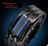 freeshipping 1pc/lot 30M water resistant blue led military watch,black/silver band.women/men size choice,very good quality one