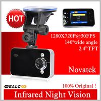Free Shipping In Stock novatek K6000 2.4 inch TFT Screen Car DVR Recorder car dvr , car black box 720P  ov9712