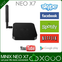 Android 4.2.2 Smart TV Receiver MINIX NEO X7 Quad Core TV Box Mini PC 1.6GHz 2G/16G WiFi HDMI XBMC