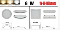 FREE SHIPPING #6W 9W 12W 15W 18W 21W DIMMABLE CREE LED Recessed Ceiling Panel Down Lights Bulb ROUND/SQUARE