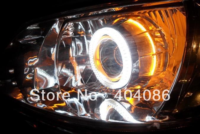 """Top calidad! 3""""pulgada HID Kit Bi Xenon Proyector Lente faro H1 H4 H7 H13 9004 9005 9006+Angel Ojo+6000K 8000K/Garantia Mejor(China (Mainland))"""