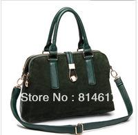 2013 Autumn and winter lockbutton trend scrub one shoulder handbag messenger bag genuine leather women's handbag online