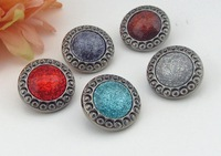 5colors High-grade retro buttons Coats Diy Clothing Accessories rhinestone shank buttons embellishment Scrapbooking wholesale
