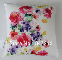 "18""x18"" floral print cushion cover decorative pillow case"